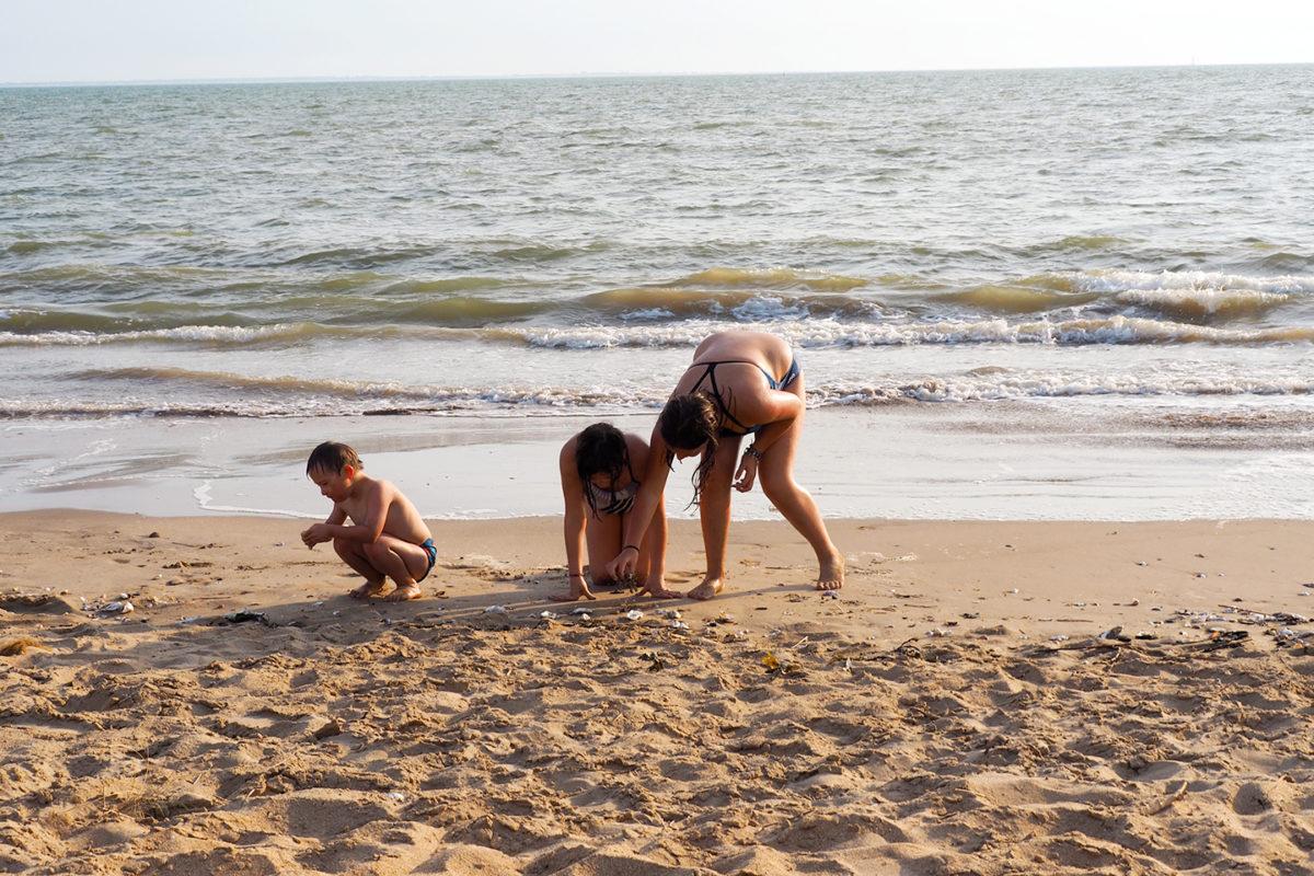 La plage comme terrain de jeux