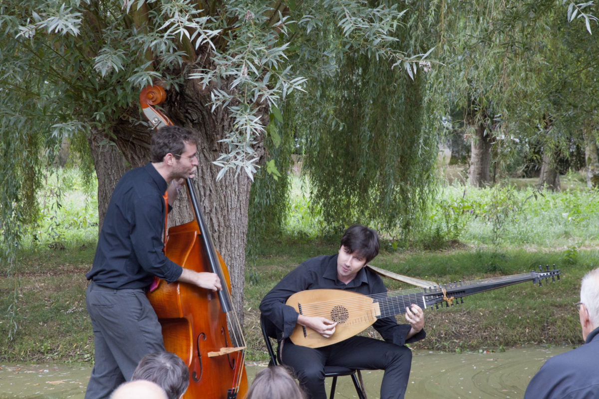 Pause musicale dans les jardins de William Christie à Thiré