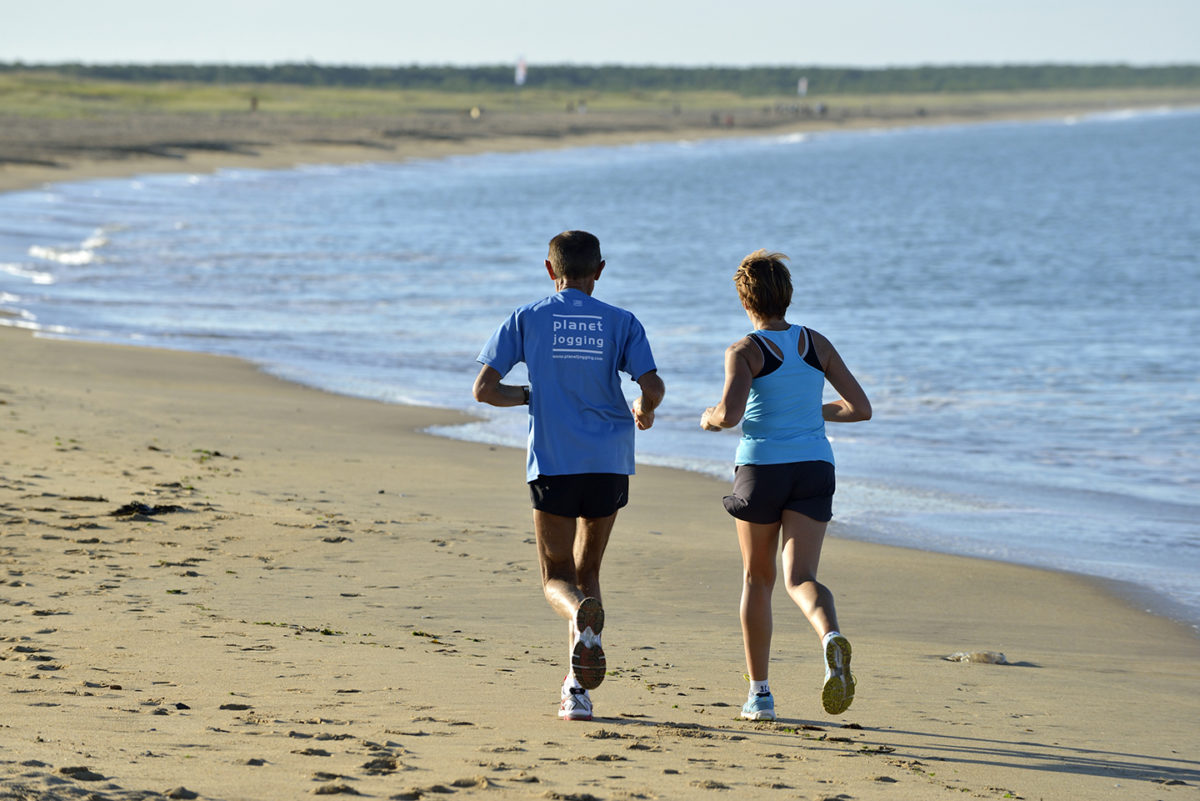 Footing sur la plage