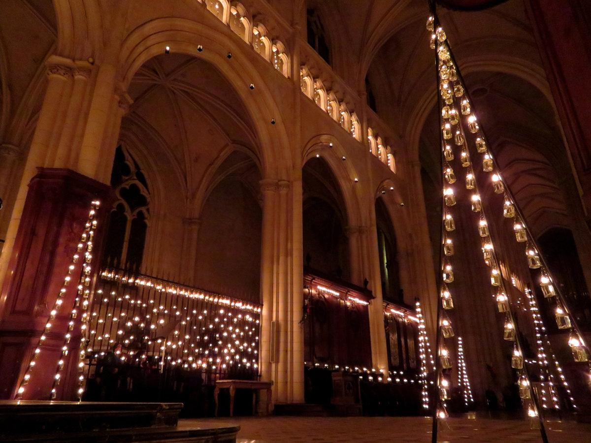 Cathédrale illuminée de Luçon